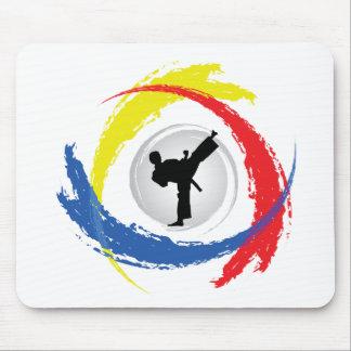 Karate Tricolor Emblem Mouse Pad