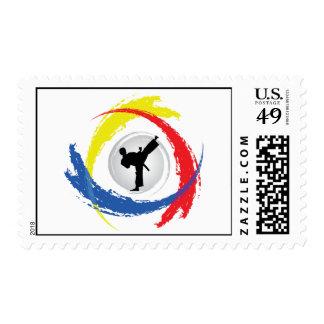 Karate Tricolor Emblem Postage
