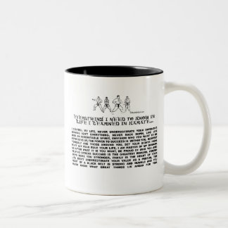KARATE Two-Tone COFFEE MUG