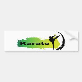 Karate único pegatina para auto