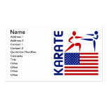 Karate United States Double-Sided Standard Business Cards (Pack Of 100)
