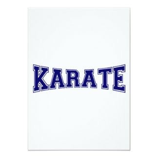 Karate University Style Card