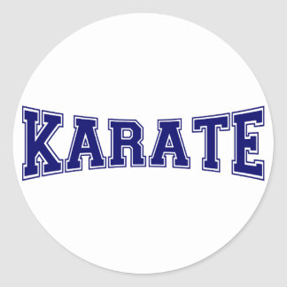 Karate University Style Classic Round Sticker