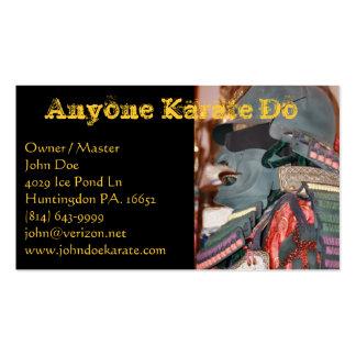 Karate uno tarjetas de negocios
