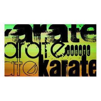 Karate; Vibrant Green, Orange, & Yellow Double-Sided Standard Business Cards (Pack Of 100)