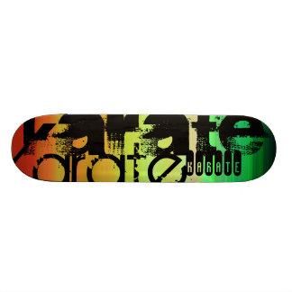 Karate; Vibrant Green, Orange, & Yellow Skateboard