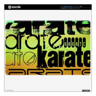 Karate; Vibrant Green, Orange, & Yellow MacBook Decals