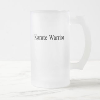 Karate Warrior 16 Oz Frosted Glass Beer Mug