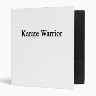 Karate Warrior 3 Ring Binder