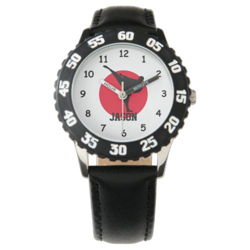 Karate watch for kids with personalized name