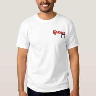 karate with black belt embroidered T-Shirt