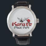 """karate wrist watch<br><div class=""""desc"""">karate black belt watch</div>"""