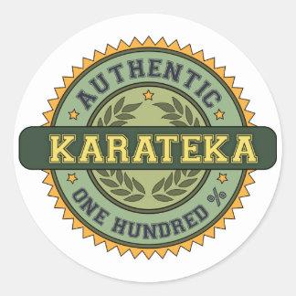 Karateka auténtico pegatinas