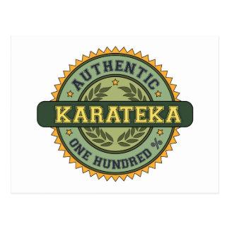 Karateka auténtico tarjeta postal