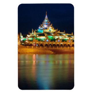 Karaweik Palace, Yangon, Burma, Myanmar Rectangular Photo Magnet