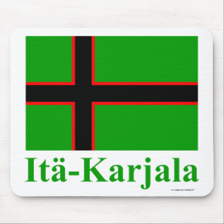 Karelia Flag with Name in Finnish Mouse Pad
