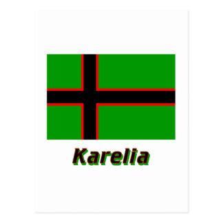 Karelia Flag with Name Postcard