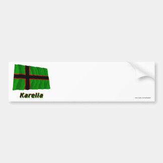 Karelia Waving Flag with Name Bumper Sticker