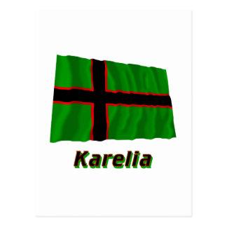 Karelia Waving Flag with Name Postcard