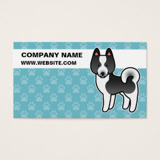 Karelian Bear Dog Cartoon Business Card
