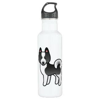 Karelian Bear Dog Cartoon Water Bottle