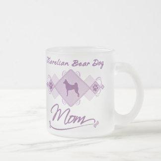 Karelian Bear Dog Mom Frosted Glass Coffee Mug