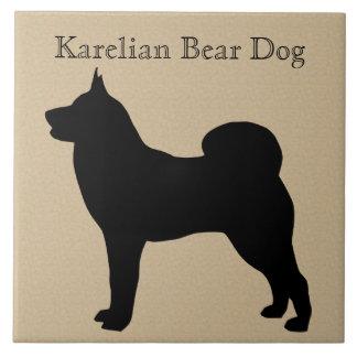 Karelian Bear Dog Silhouette Tile