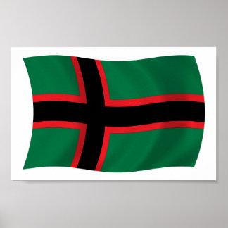 Karelians Flag Poster Print