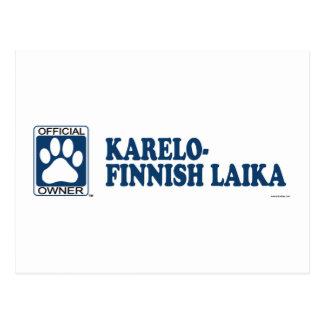 Karelo-Finnish Laika Blue Postcard