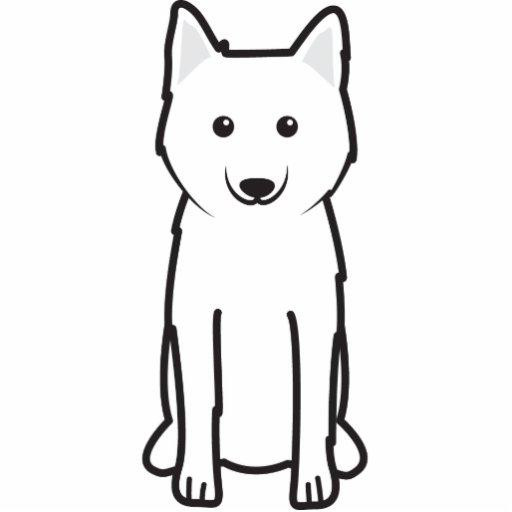 Karelo-Finnish Laika Dog Cartoon Photo Cutouts