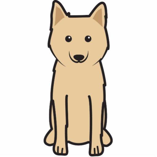 Karelo-Finnish Laika Dog Cartoon Photo Sculptures