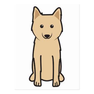 Karelo-Finnish Laika Dog Cartoon Postcard