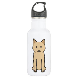 Karelo-Finnish Laika Dog Cartoon Stainless Steel Water Bottle