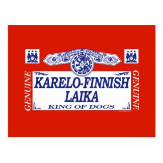 Karelo-Finnish Laika Postcard