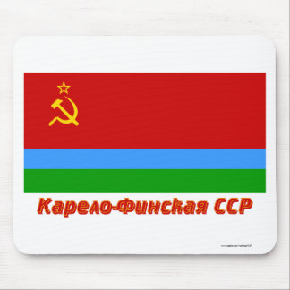 Karelo-Finnish SSR Flag with Name Mouse Pad