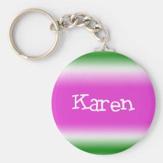 Karen Basic Round Button Keychain