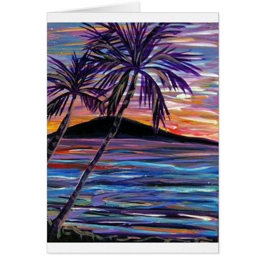 karen H's sunset Card
