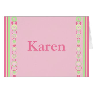 Karen Modern Circles Custom Name Card