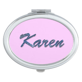 KAREN Name Branded Gift for Women Vanity Mirror