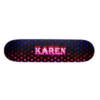Karen pink fire Skatersollie skateboard. Skateboard