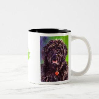 Karen Reed's Maggie Has a Heart Two-Tone Coffee Mug