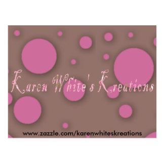 Karen Whites Kreations Postcard