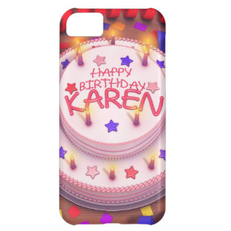 Karen's Birthday Cake Cover For iPhone 5C