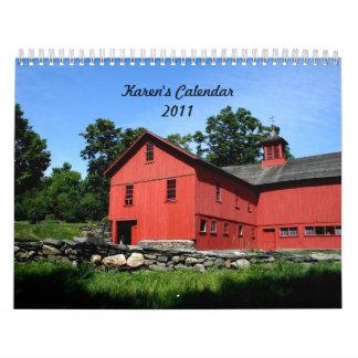 Karen's Calendar!  2011