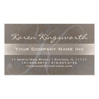 Karen's Elegant K Monogram Softly Taupe Pro Style Business Card