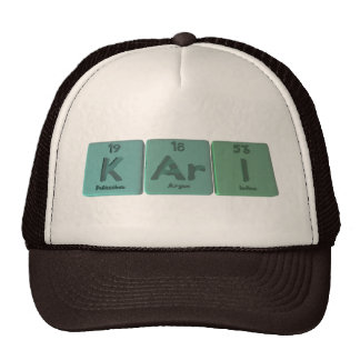 Kari como yodo del argón del potasio gorro de camionero
