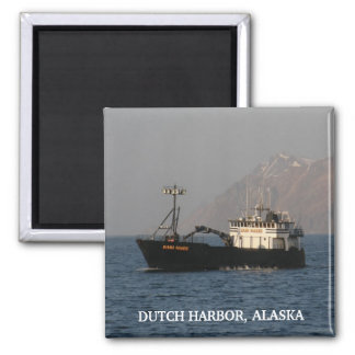 Kari Marie, Crab Boat in Dutch Harbor, AK 2 Inch Square Magnet