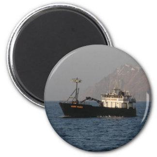 Kari Marie, Crab Boat in Dutch Harbor, AK 2 Inch Round Magnet