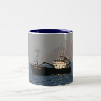 Kari Marie, Crab Boat in Dutch Harbor, AK Two-Tone Coffee Mug