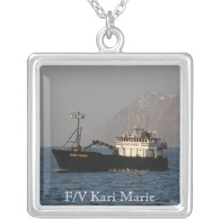 Kari Marie, Crab Fishing Boat Silver Plated Necklace